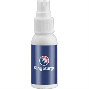 Empty White Bottle With Choice Of Secure Push Top Lid Or Spray Top, 1 Oz. Bottle