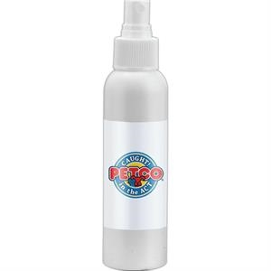 Empty White Bottle With Choice Of Secure Push Top Lid Or Spray Top, 4 Oz. Bottle