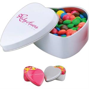 Empty - Large Heart Shaped Tin With Candy Filler Available