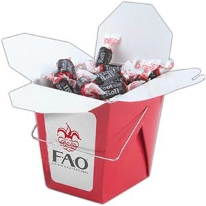 Empty - Pint Sized Classic Chinese Take-out Box With Your Choice Of Wrapped Candy Fills