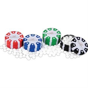 Printed Mints - Easy Grip Poker Chip Container With Twist Action And Many Fills To Choose From