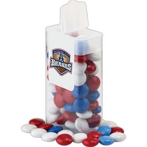 Printed Mints - Medium Rectangle Flip Top Container Filled With Your Choice Of Candy Filler