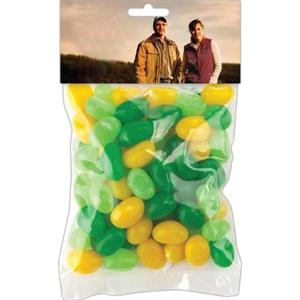 Corporate A Fill - Let Your Tasty Treat Show Through With Our Clear 1 Oz. Poly Header Bag