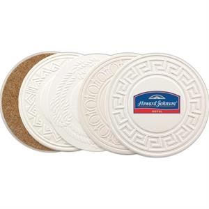 Greek Accented Aquaguard Coaster Made From Sandstone