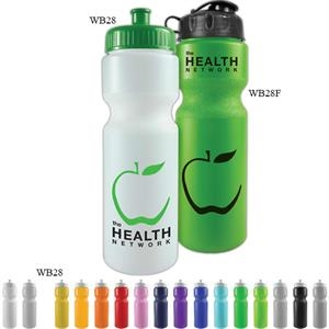 Personal Refillables (tm) - 28 Oz Sports Bottle With Push Pull Cap And Contour Grip Neck