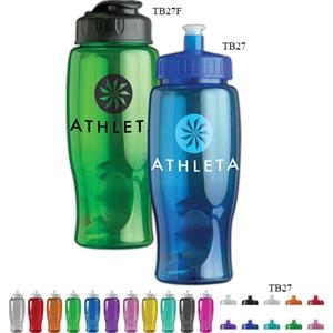 Personal Refillables (tm) - 27 Oz. Transparent Sports Bottle