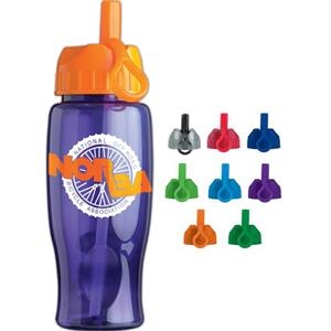 Personal Refillables (tm) - 27 Oz. Poly-pure Bottle With Flip Straw Lid