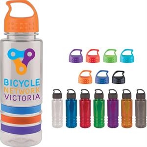 Personal Refillables (tm) - 24 Oz Tritan Stripe Bottle With A Crest Lid