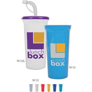 Stadium Cup, 32 Oz. Bpa Free. Enhanced Biodegradability
