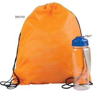 Drawstring Backpack In A Bottle Combo Kit