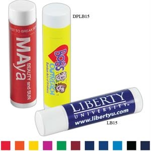 "Spf 15 Lip Balm Tube, 2 5/8"" X 5/8"" Diameter, With Choice Of 5 Flavors"