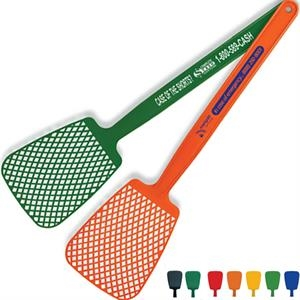 "Fly Swatter, 16"", Molded In Flexible Polyethylene For Increased Durability"