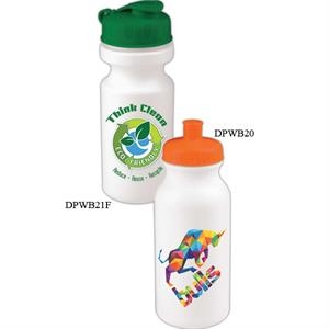 Personal Refillables (tm) - 20 Oz. Bike Bottle With Push Pull Cap With Full Color Digital Imprint