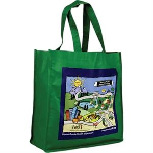 "13"" - Non-woven Tote Bag - 80 Gsm, In Digital Full Color Imprint"