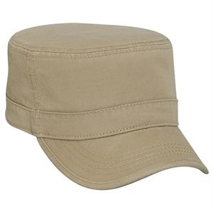 Superior Garment Washed Cotton Twill Military Style Cap. Blank