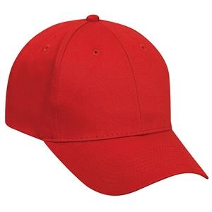 Low Profile, Promo Brushed Cotton Twill Pro Style Cap With Low Fitting. Blank