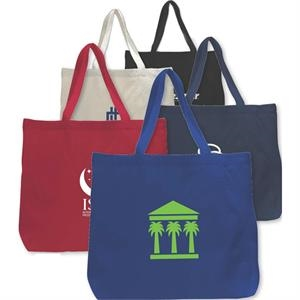 Canvas Jumbo Tote Bag With Extra Long Web Handles
