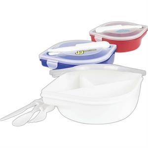 3 Compartments Includes Safety Fork, Knife And Spoon