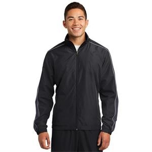 2 X L - Sport-tek Piped Colorblock Wind Jacket
