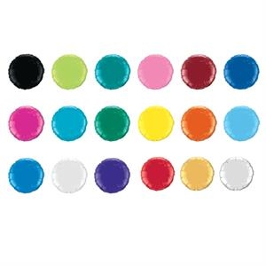 "Qualatex (r) - 1 Color - Round - Small Quantity Microfoil (r) 18"" Round Or Heart Shaped Balloon"