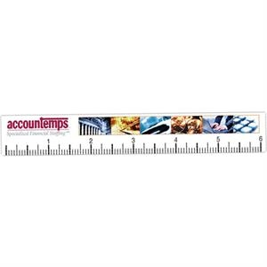 "6"" - Full Color Ruler, .020"" Thick"