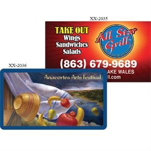 Removable Adhesive Decal Square Corner Business Card Printed On 6 Mil Vinyl
