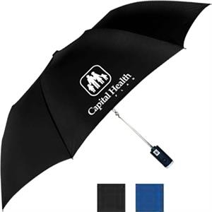 "Auto Open/close Folding Umbrella, Led Flashlight In Handle, 42"" Arc"