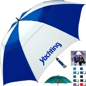 "Typhoon Tamer (tm) - Vented Golf Umbrella, Rubberized Grip, 62"" Arc"