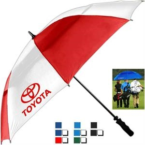 Tornado (tm) - Golf Umbrella Features Automatic Opening, Vented Canopy And Fiberglass Construction
