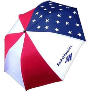 "Patriot - Folding Umbrella With Automatic Opening, Canopy Is 42"", Folds To 15"" Long"