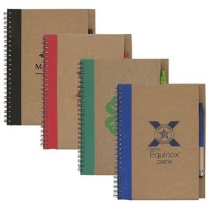 Colorful Recycled Notebook With Eco Friendly Stylus Pen