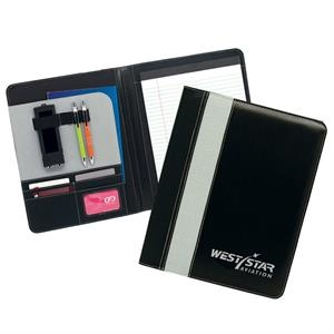 Ursa - Padfolio With Interior File Pocket, Business Card Holders And Writing Pad