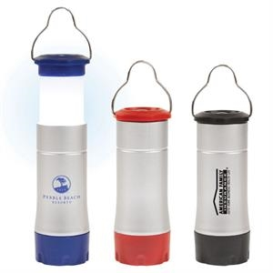 Plastic Silver Led Lantern/flashlight Combo