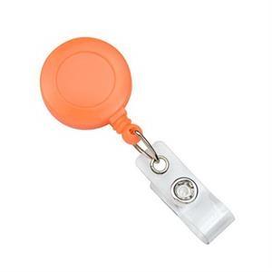 Neon Orange Opaque Plastic Badge Reel