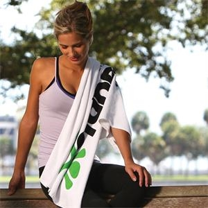 Thirsty Game Towel with CleenFreek® - White