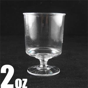 Elegant disposable 2oz wine and champagne sampling glass