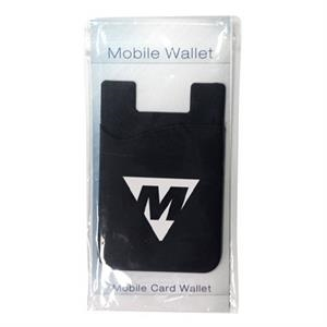 Silicone smartphone wallet with stock info card