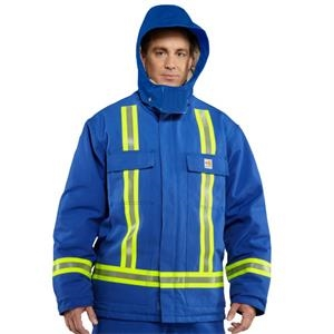 Flame-Resistant Duck Traditional Coat-Reflective Striping