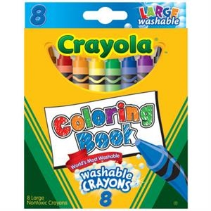 Crayola 8 ct. Large Washable Coloring Book Crayons