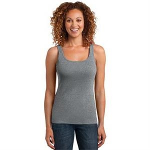 District Made Ladies Mini Rib Racerback Tank.