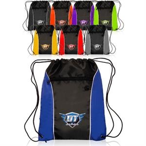 Color side drawstring backpack