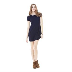 Women's Vintage Jersey Short Sleeve T-Shirt Dress