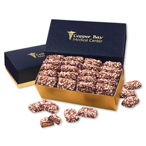 English Butter Toffee in Navy & Gold Gift Box