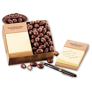 Note Holder with Chocolate Covered Almonds