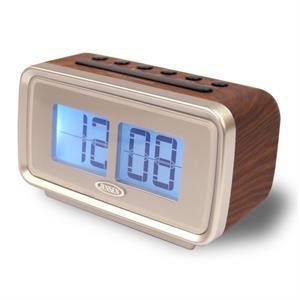 "Jensen AM/FM Dual Alarm Clock w/Digital Retro \""Flip\"" Display"