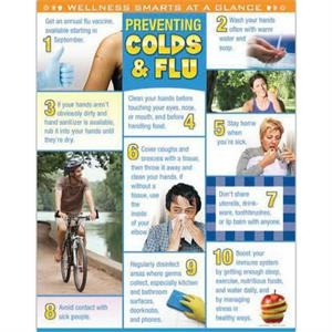 Preventing Colds & Flu Laminated Poster