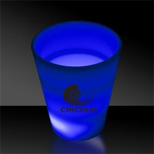 Blue LED Light Up Glow Neon Look 2 oz Shot Glass