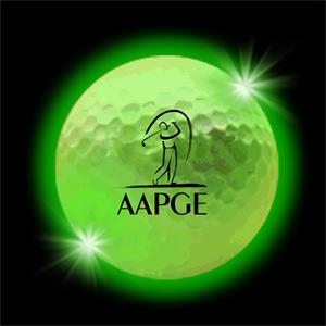 Green LED Light Up Golf Balls