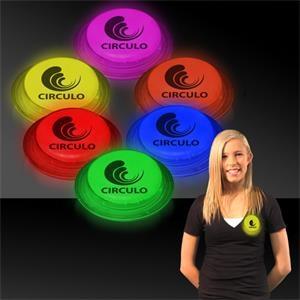"3\"" Self-Adhering Circle Shaped Light Up Glow Badge"