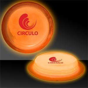 """Orange 3\"""" Self-Adhering Circle Shaped Light Up Glow Badge"""